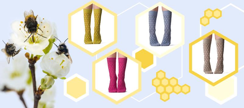 Dedokaptár méhek pamut zoknit