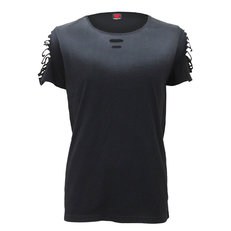 Tričko s roztrhaným rukávem Basic
