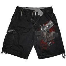 Herren Shorts mit dem Motiv Waffe