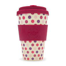 Bambus Ecoffee Cup Rosa Punkte
