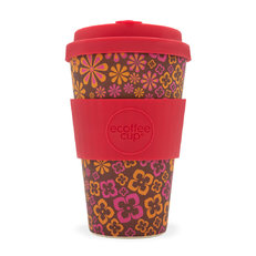 Bambusový ecoffee cup Květy