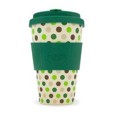 Bambusový ecoffee cup Zelené puntíky