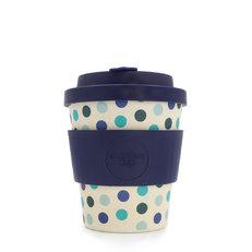 Mini Bambusový ecoffee cup Modré puntíky
