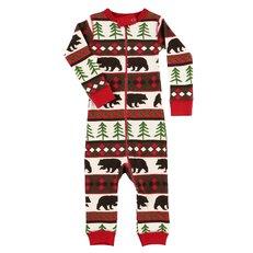 Csecsemő pizsama overál Vadászó medve