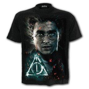 Tričko s krátkym rukávom Harry Potter Harryho tvár