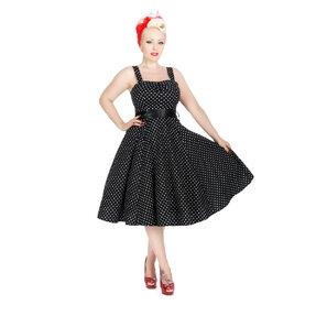 Black Dotted Retro Pin Up Dress