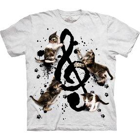 Tričko Hudba a koťata