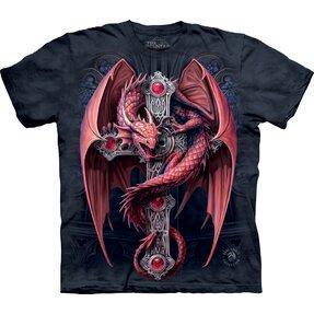 Tričko bordó drak