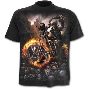 T-Shirt Rad im Feuer