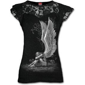 Damen T-Shirt mit Spitze Flügel des Engels