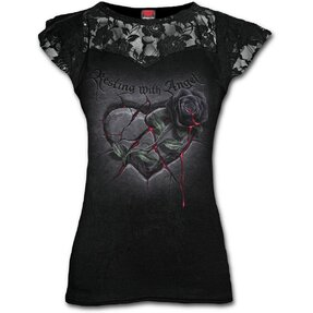 Dámske tričko s čipkou Srdce anjela