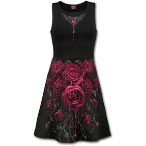 Midi Dress Bloody Roses