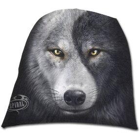 Beanie Mütze Wolfsgesicht