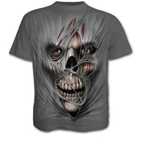 Tričko sivé Trhliny