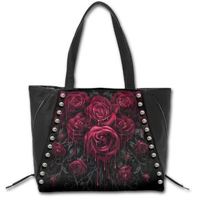 Black Shoulder Bag - Bloody Roses