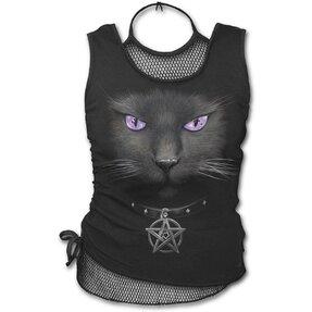 Dámske tielko 2v1 s motívom Magická mačka