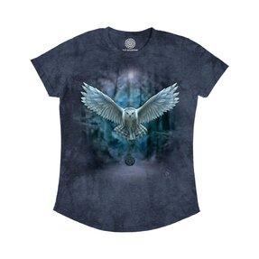 Dámske tri-blend tričko Magická sova