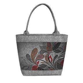 Ladies' Eco-felt Polo Handbag Earthy Flowers