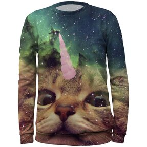 Kids' Sweatshirt Cat Unicorn