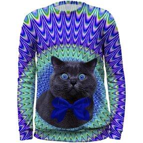 Kids' Sweatshirt Crazy Cat