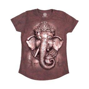 Dámske tri-blend tričko Ganesha
