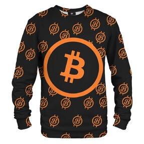 Mikina bez kapucne Bitcoin motív