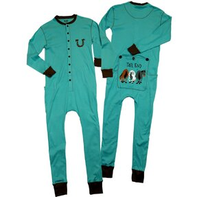 Blue Pyjamas Overall Three Horses