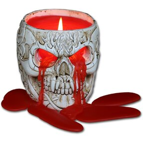 Scented Resin Candle Skull