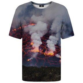 T-Shirt mit kurzen Ärmeln Wütender Vulkan