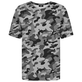 T-shirt with Short Sleeve Grey Camouflage