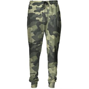Unique Aladdin Sweatpants Green Camouflage