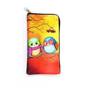 Textile Mobile Case - Owls in Love