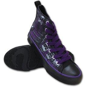 Ladies' Black Sneakers Rock Corset