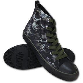 Men's Black Sneakers Vampire Skull