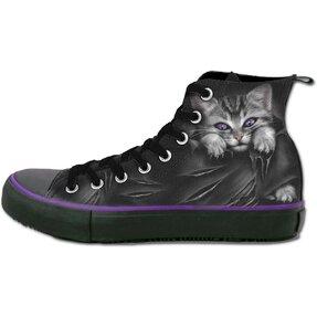 Dámske čierne tenisky Mačacie pazúriky