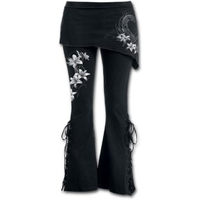 Ladies' Trousers 2in1 White Flowers