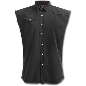 Sleeveless Shirt Plus Size Black
