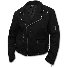 Biker Jacket Denim Black