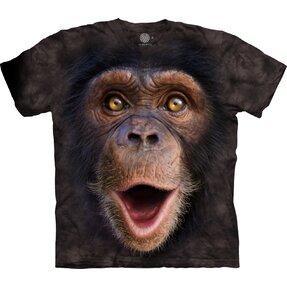 3D póló meglepődött csimpánz