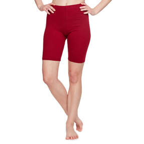Cotton Biker Shorts Burgundy