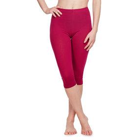 Bordó 3/4 pamut leggings