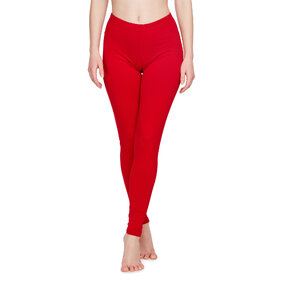 Rote baumwollene Leggings