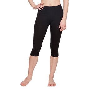 Fekete 3/4 pamut leggings