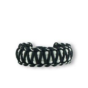 Schwarz-weißes Paracord Survival Armband Zebra