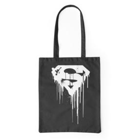 Plátená taška Superman™ Čierno-biele Logo