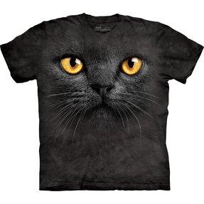 Tričko Obličej černé kočky