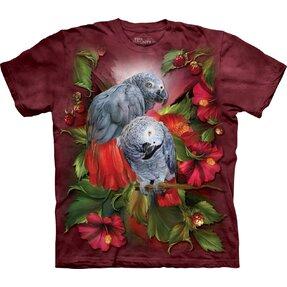 Tričko Africké šedé papagáje