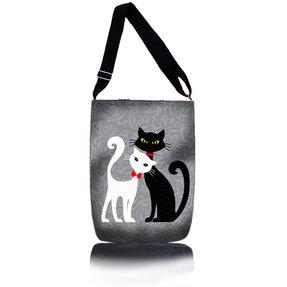 Cross Body Handtasche Easy - Schwarze und weiße Katze