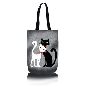 Shop Shoulder Bag - Black and White Cat
