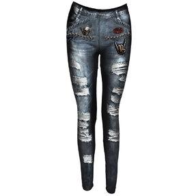 Legíny Imitácia džínsov